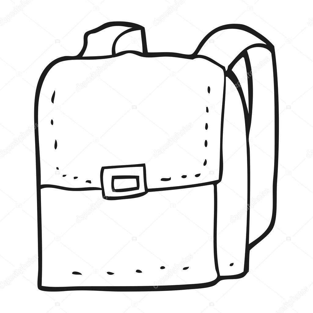Schwarze Und Wei E Cartoon Tasche