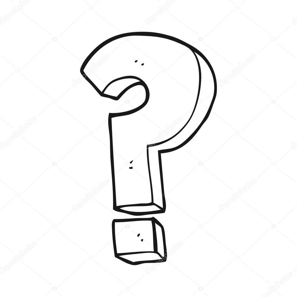 Simbolo De Ponto De Interrogacao De Preto E Branco Dos