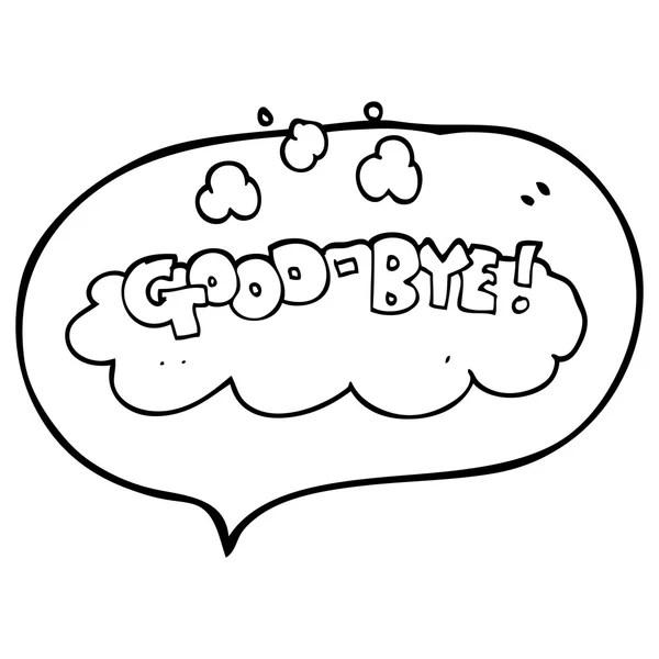 卡通再见符号 — 图库矢量图像© lineartestpilot #101925320