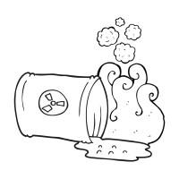 Basura para colorear imgenes de stock, dibujos residuos