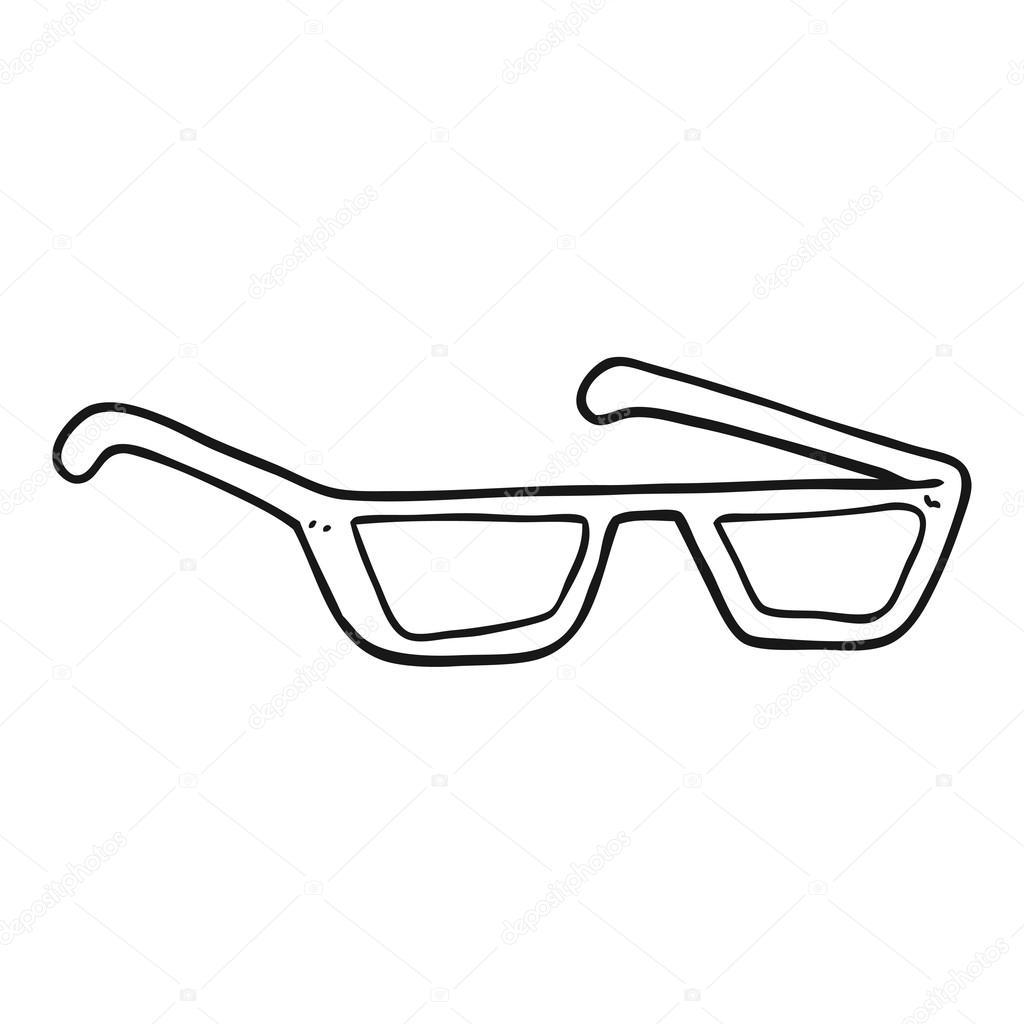 Gafas De Sol De Blanco Y Negro De Dibujos Animados