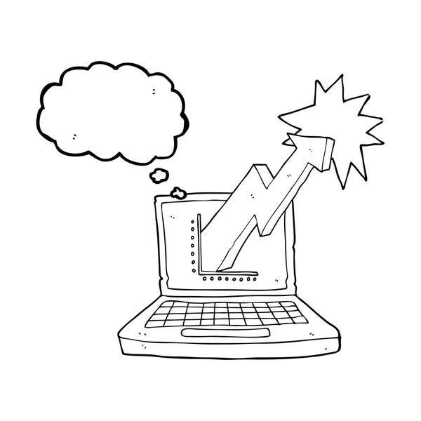 Retro manuelle Schreibmaschine Skizze — Stockvektor