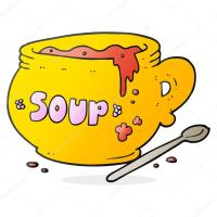 plato de dibujos animados de sopa  Archivo Imgenes ...