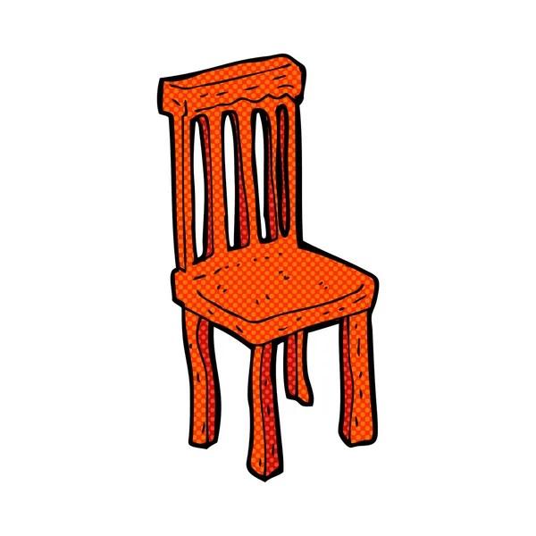 cadeira de madeira de desenho em quadrinhos  Vetores de