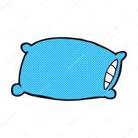 Comic dibujos animados almohada  Vector de stock ...