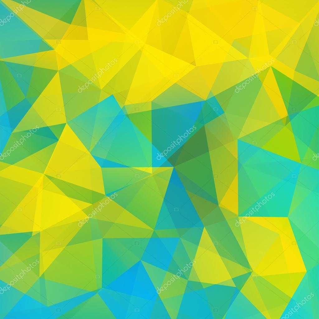 Geometric Pattern Polygon Triangles Vector Background In