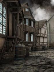 medieval street fantasy depositphotos