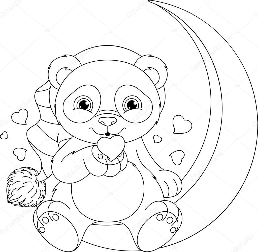 Kleurplaat Pandas • Kidkleurplaat.nl