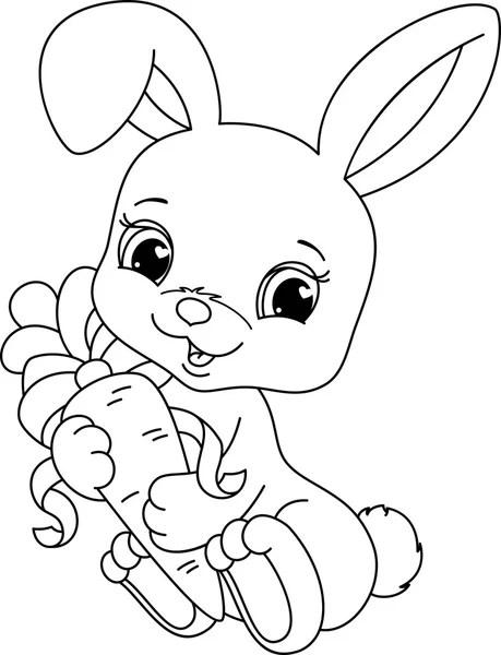 Rabbit coloring page — Stock Vector © Malyaka #64337765