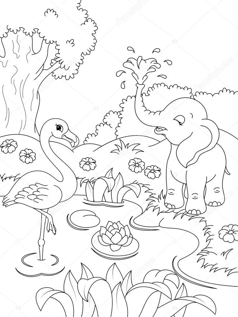 Kolorowanki zwierzęta — Grafika wektorowa © Malyaka #68087183