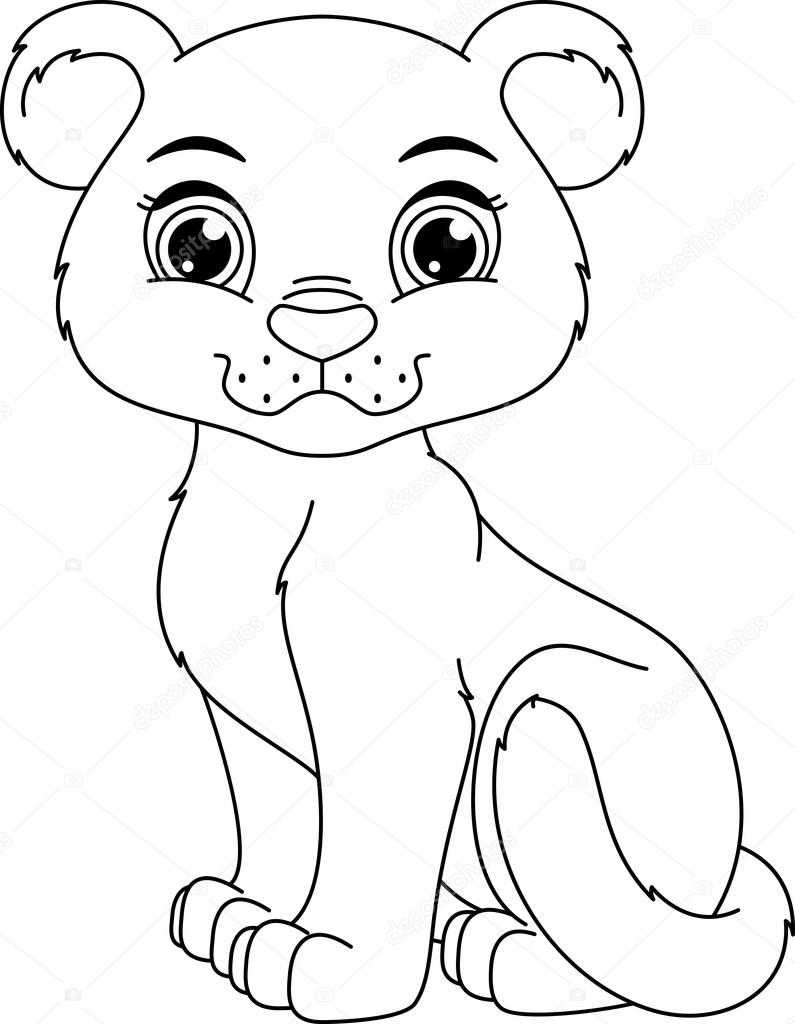 Panther coloring page — Stock Vector © Malyaka #69981861
