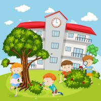 Imgenes: nios jugando en el patio de la escuela   Nios ...