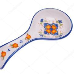 Kitchen Spoon Rest Swan Sinks 观赏勺子休息 烹饪模具 孤立的白色背景上 厨房配件 图库照片