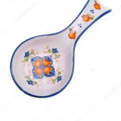 Kitchen Spoon Rest 3 Light Island Pendant 观赏勺子休息 烹饪模具 孤立的白色背景上 厨房配件 图库照片