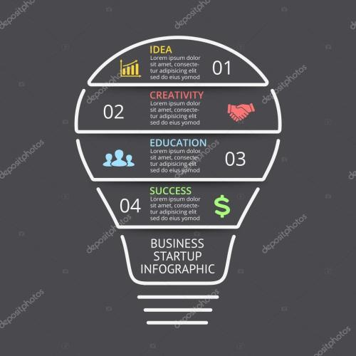 small resolution of vector light bulb linear infographic template for lines diagram graph presentation and layers