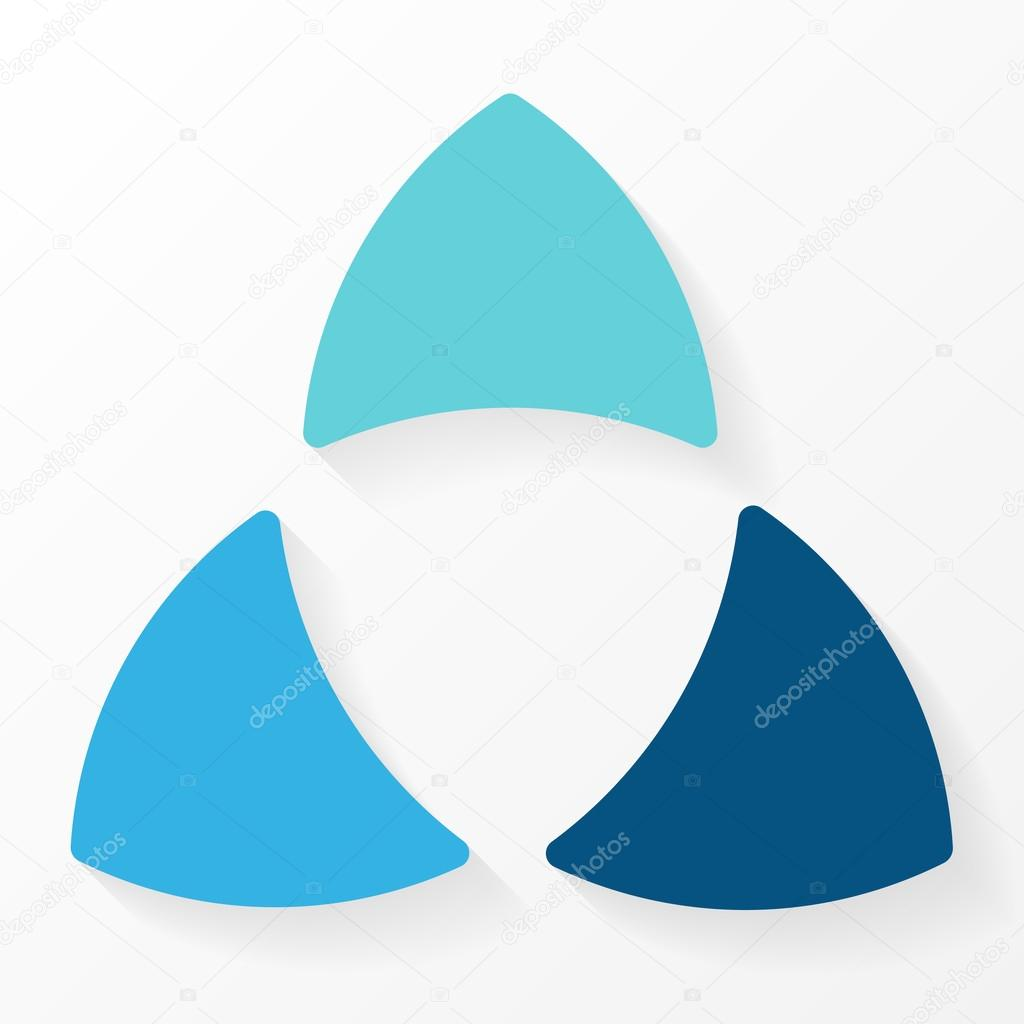 3 arrow circle diagram bmw e90 audio wiring arrows triangle infographic cycle graph