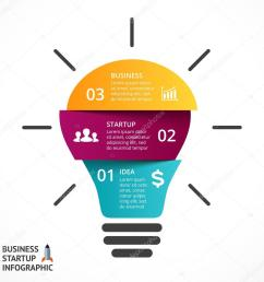 vector light bulb infographic template for lamp diagram graph presentation and round chart [ 1024 x 1024 Pixel ]