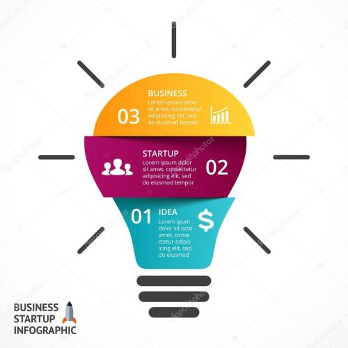 small resolution of vector light bulb infographic template for lamp diagram graph presentation and round chart