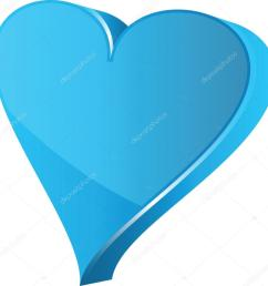 blue heart clipart illustration stock illustration [ 1015 x 1024 Pixel ]