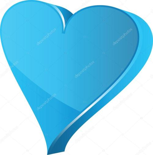 small resolution of blue heart clipart illustration stock illustration