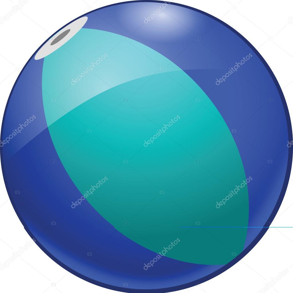hight resolution of beach ball clipart illustration stock illustration