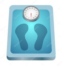 clip art image of a weighing scale with footprints vector by kozzi2 [ 1024 x 1024 Pixel ]