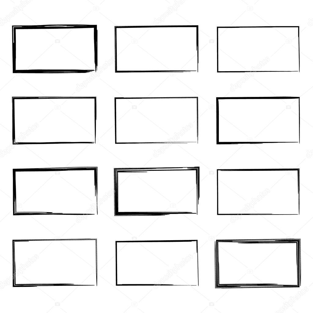 Set Hand Drawn Square