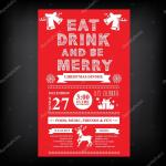 Christmas Restaurant And Party Menu Invitation Stock Vector C Marchi 57520671
