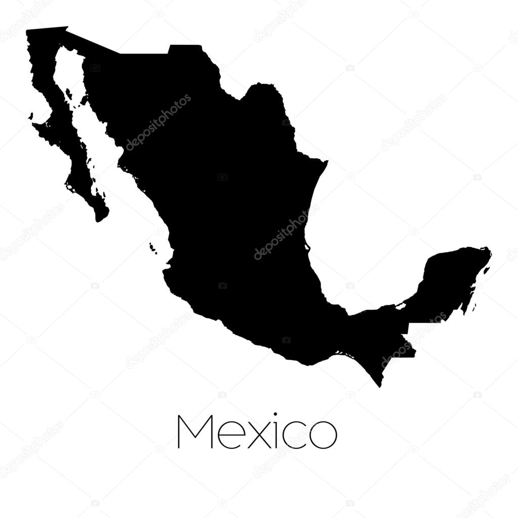 Country Shape Isolated On Background Of The Country Of