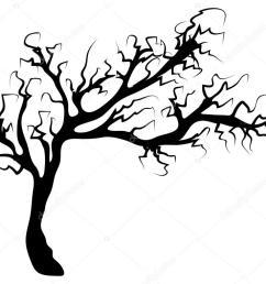 halloween creepy scary bare tree vector symbol icon design stock vector [ 1023 x 787 Pixel ]