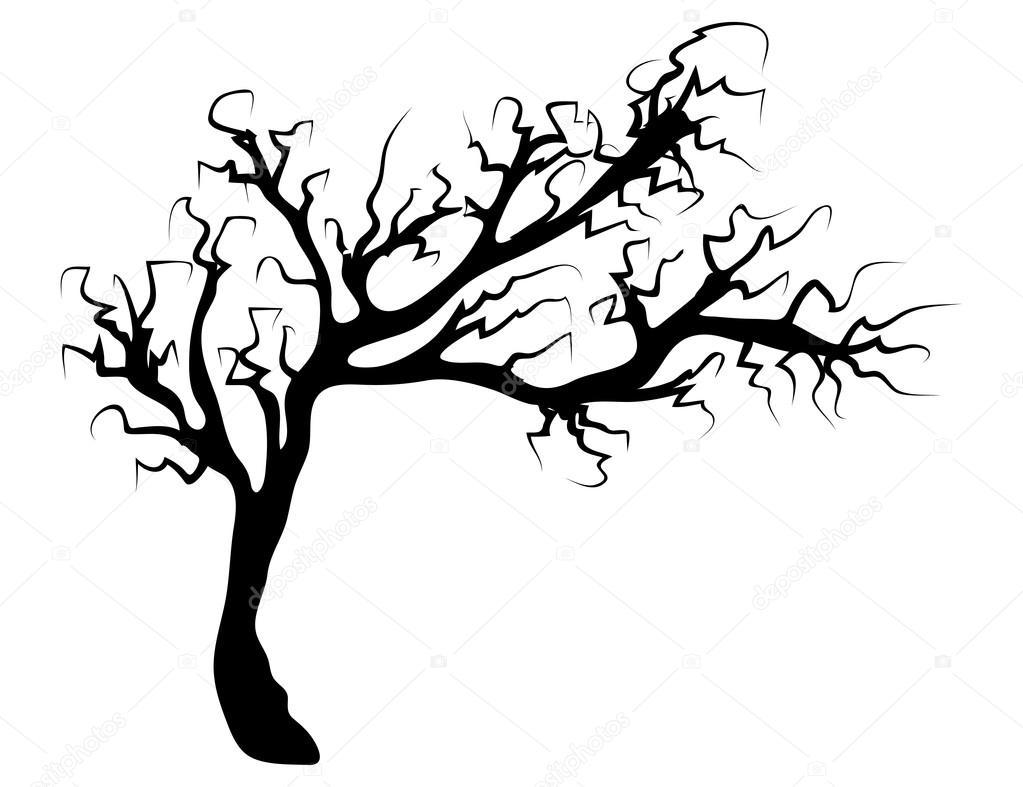 hight resolution of halloween creepy scary bare tree vector symbol icon design stock vector