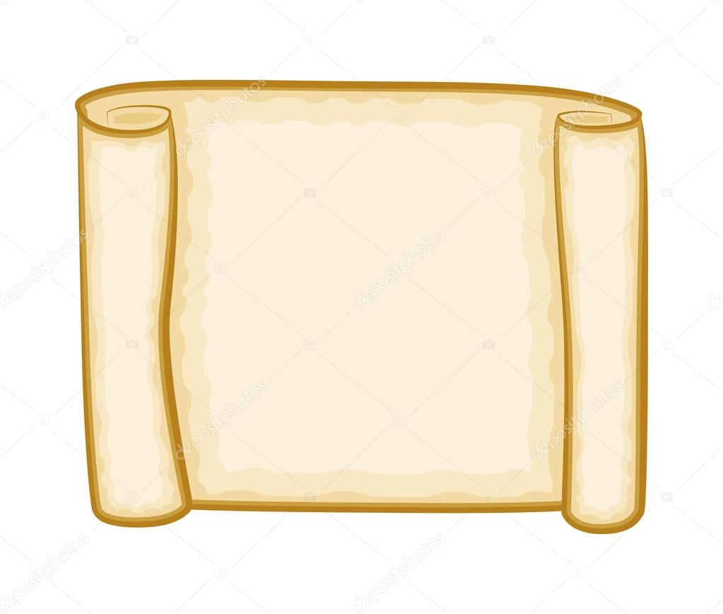 hight resolution of paper scroll clipart vector isolated on white background empty blank parchment rolled up scroll