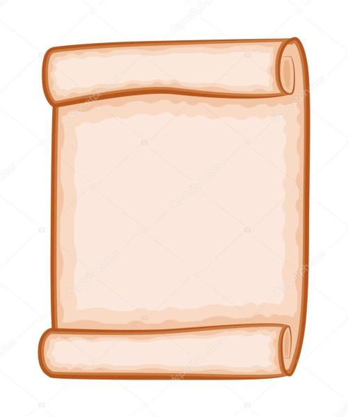 small resolution of paper scroll clipart vector isolated on white background empty blank parchment rolled up scroll