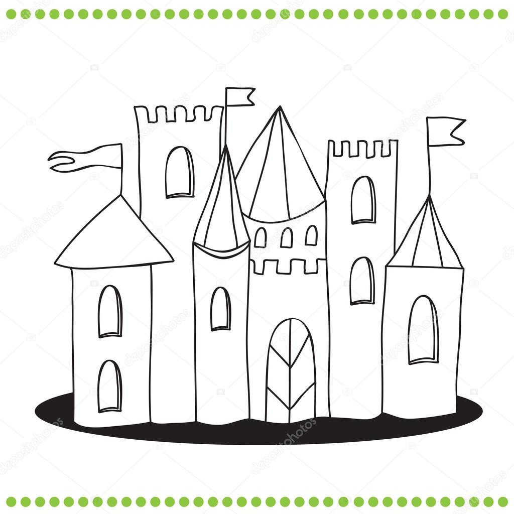 Art Illustration of a Castle — Stock Vector © Brill #66990471