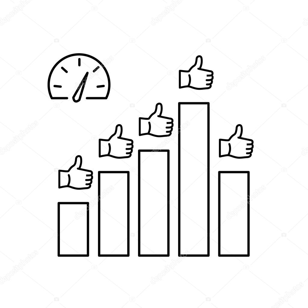 Conceptual vector icon of KPI — Stockvektor © HonzaHruby