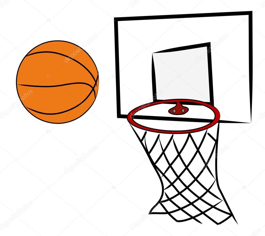 Pin Dibujos Pelota Baloncesto Canasta Para Colorear