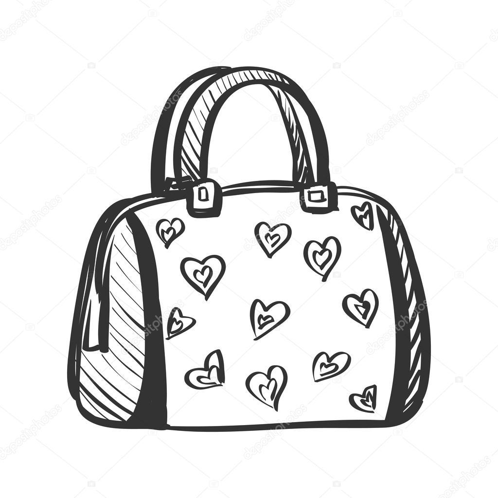 doodle purse — Stock Vector © Netkoff #80158642