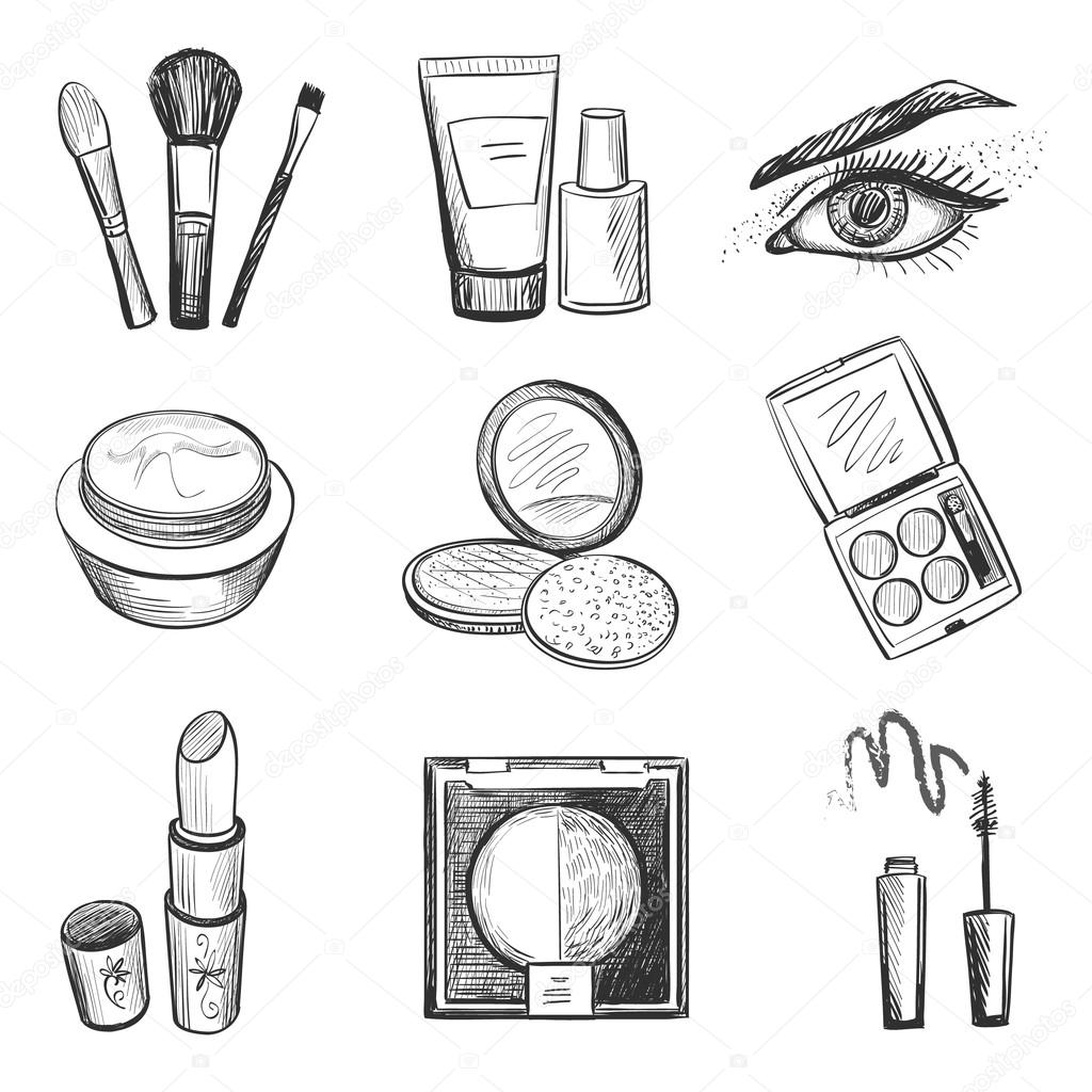 Hand Drawn Makeup Icons