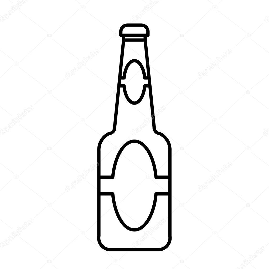 Vetor De Contorno De Garrafa De Cerveja