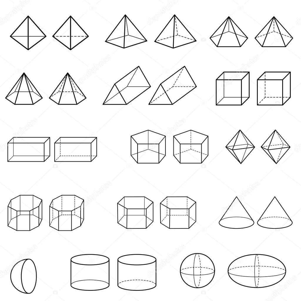 des formes géométriques 3D vectorielle — Image vectorielle