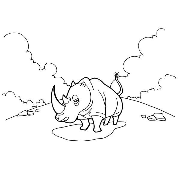 Konturerad tecknad häst kör — Stockfotografi © HitToon