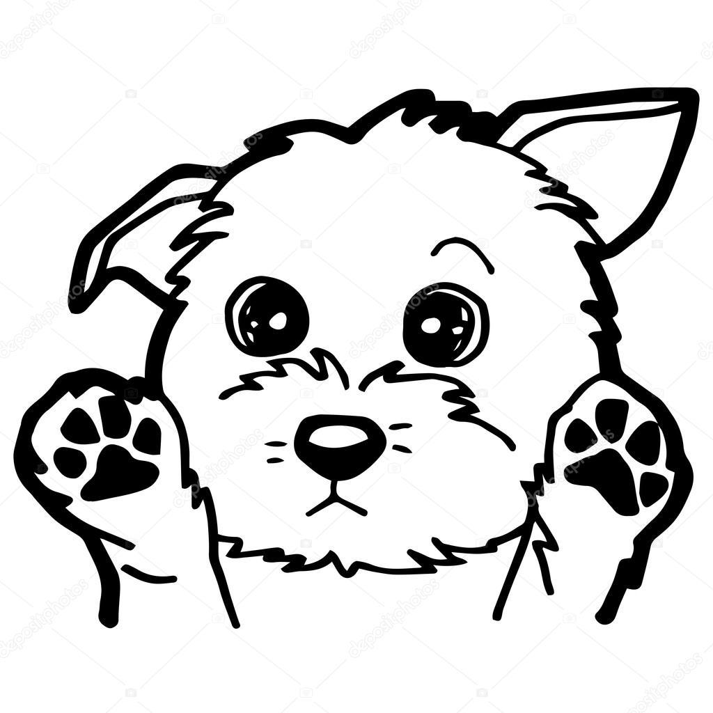 Ilustracja Kreskowka Zabawny Pies Dla Kolorowanka