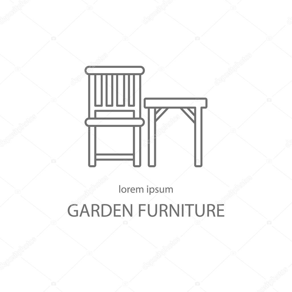 Garden Furniture Logotype Design Templates