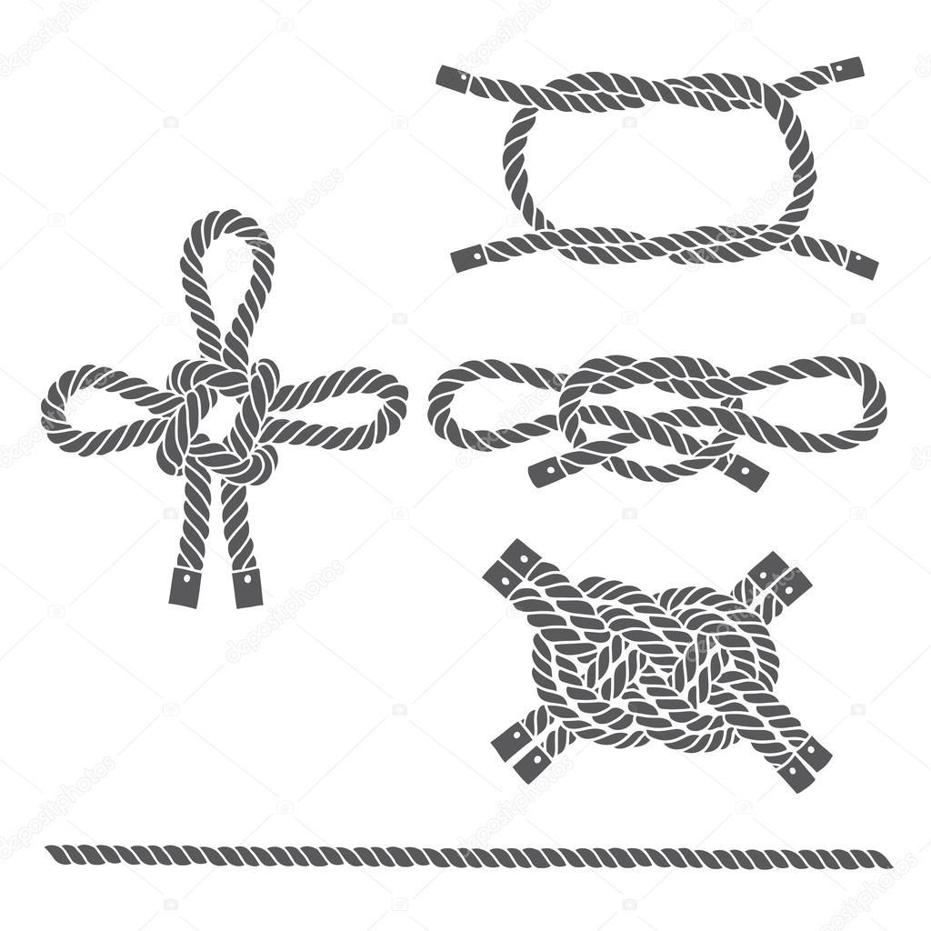 Set Of Marine Rope Knots