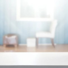 Primal Kitchen Bars Alder Cabinets 黑白原始厨房内部有混凝土地板黑色和蓝色台面和全景窗口渲染模拟模糊 表顶部和模糊