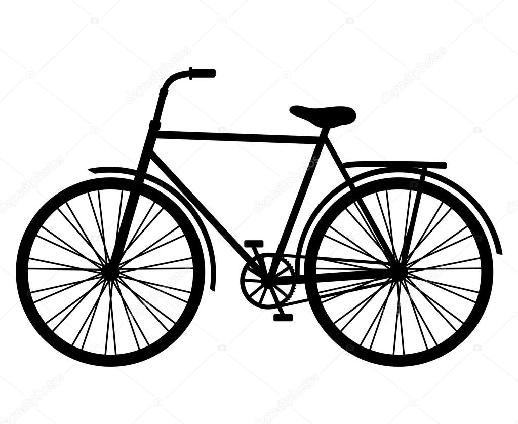 Silhouette classic bicycle vector — Stock Vector #92651186