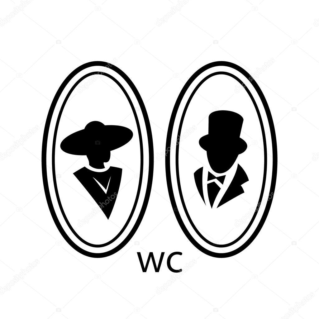 Toilet Wc Sign Icon