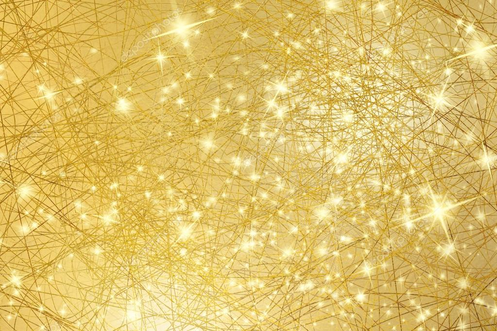 Sparkle background  gold texture with stars  abstract