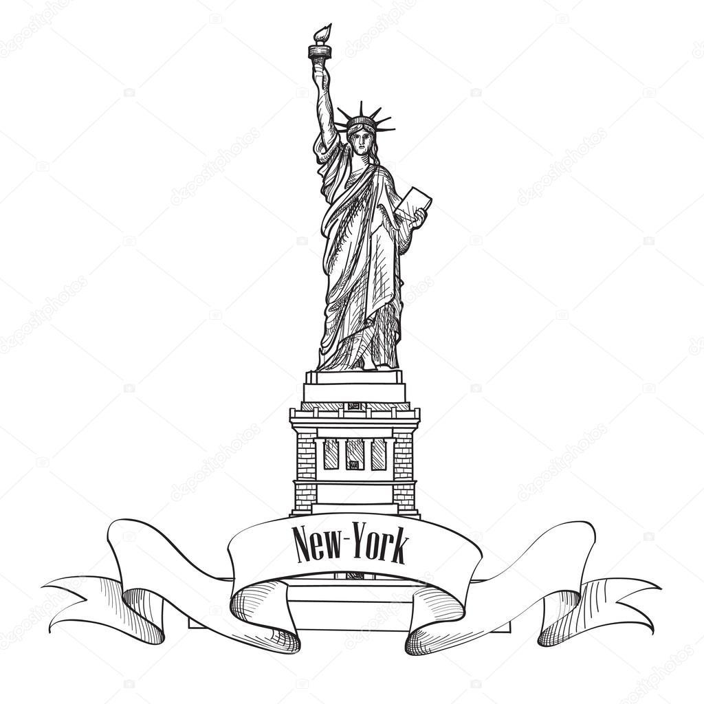 Dibujos Estatua De La Libertad Dibujo