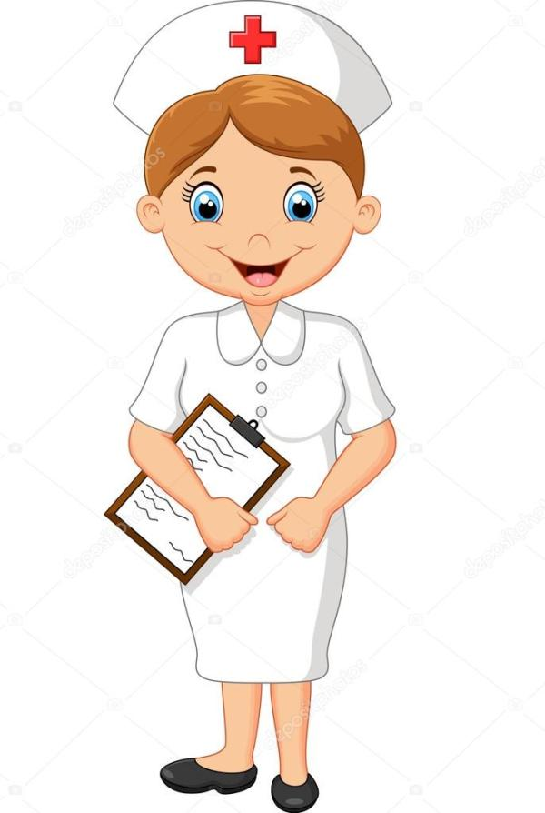cartoon nurse stock vector